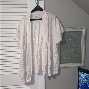 plus size white shawl